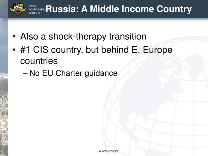 Russia: A Middle Income Country