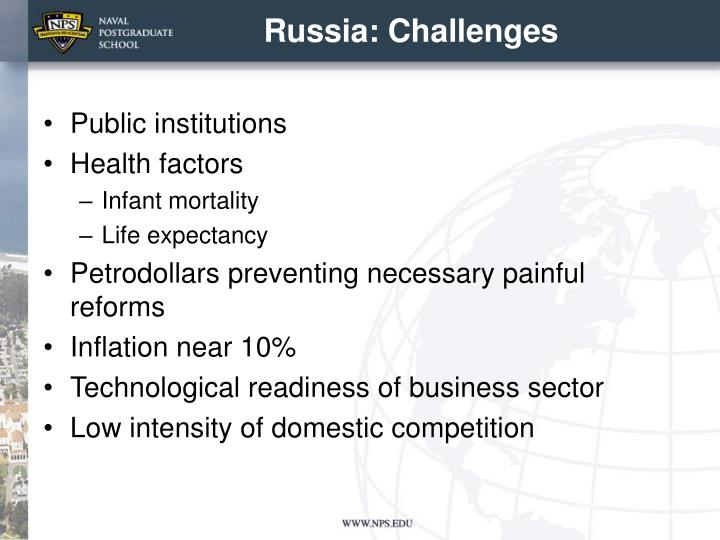Russia: Challenges