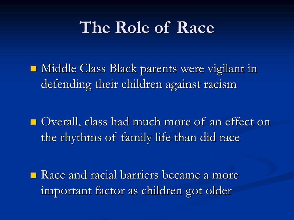 The Role of Race
