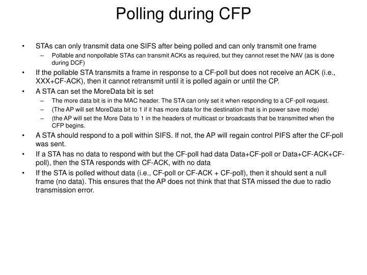 Polling during CFP