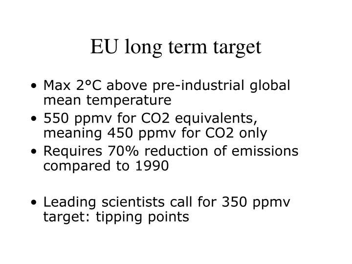 EU long term target