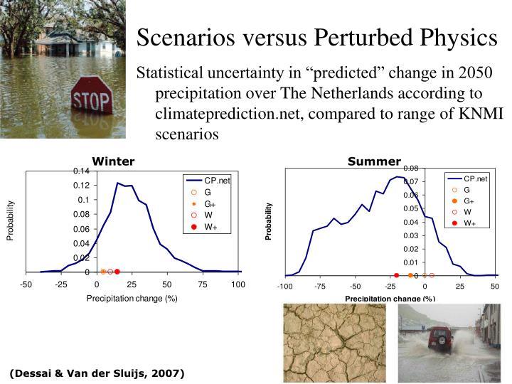 Scenarios versus Perturbed Physics