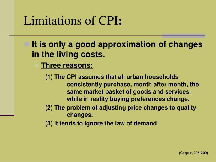 Limitations of CPI