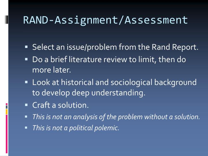 RAND-Assignment/Assessment