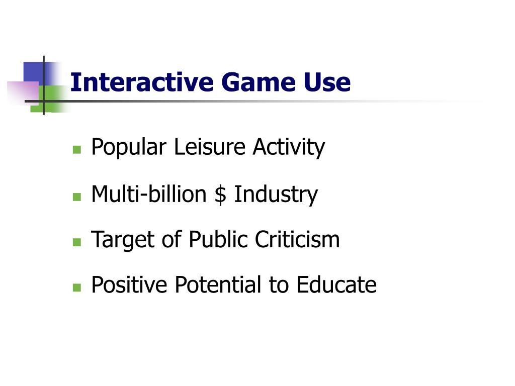 Interactive Game Use