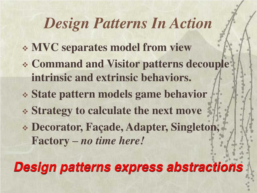 Design Patterns In Action