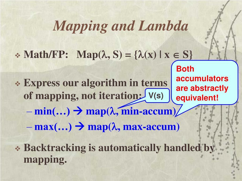 Mapping and Lambda