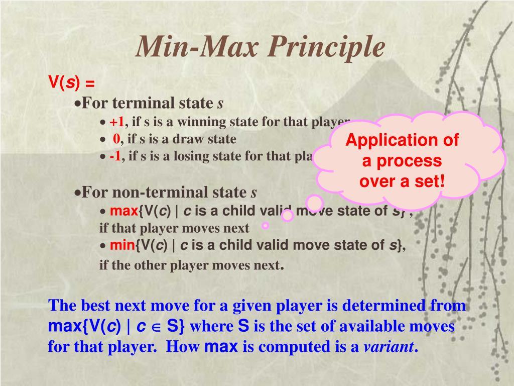 Min-Max Principle