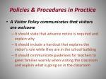 policies procedures in practice