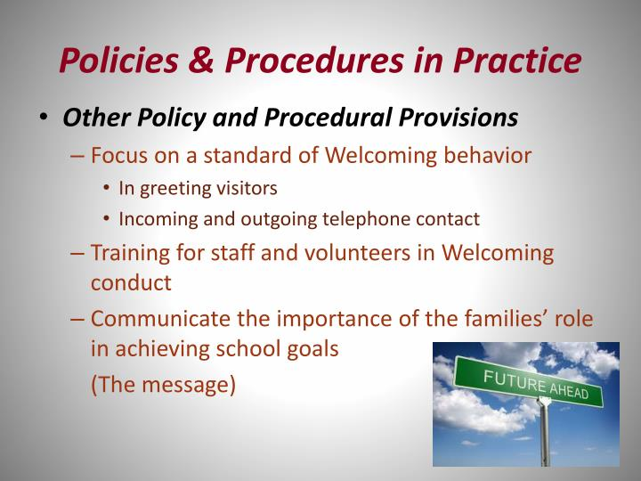 Policies & Procedures in Practice