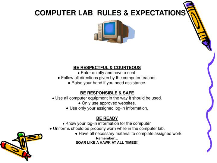 COMPUTER LAB  RULES & EXPECTATIONS