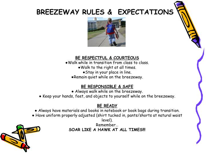 BREEZEWAY RULES &  EXPECTATIONS