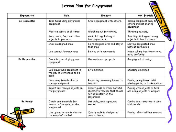 Lesson Plan for Playground
