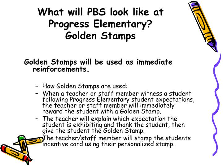 What will PBS look like at Progress Elementary?