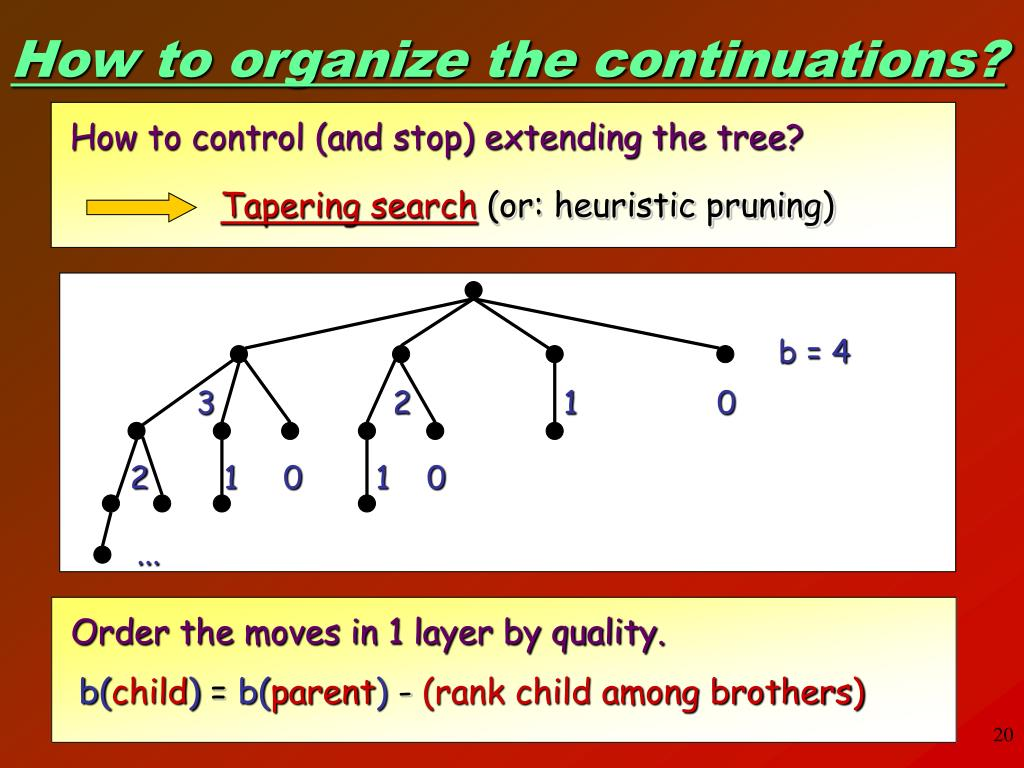 How to control (and stop) extending the tree?