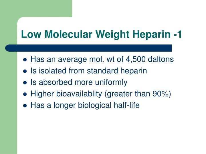 Low Molecular Weight Heparin -1