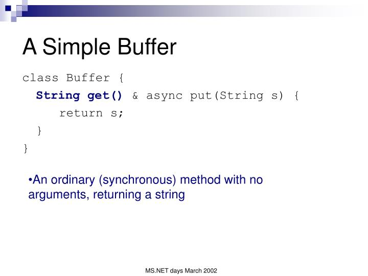 A Simple Buffer