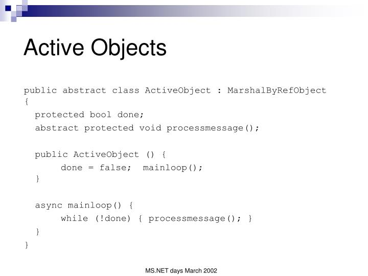 Active Objects