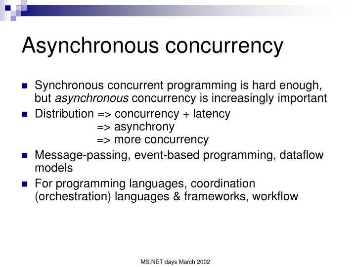 Asynchronous concurrency