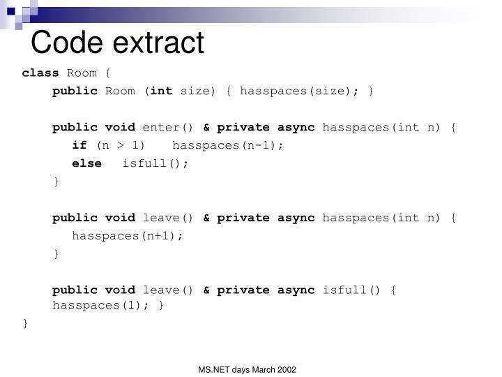 Code extract