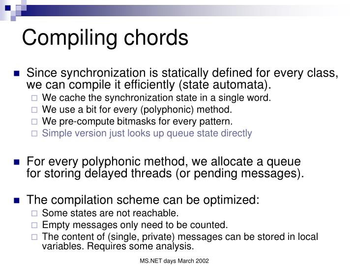 Compiling chords