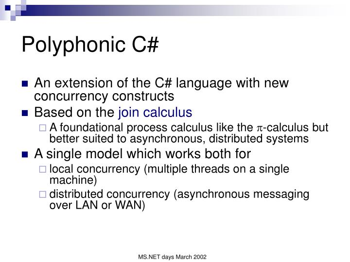 Polyphonic C#