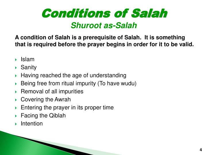 Conditions of Salah