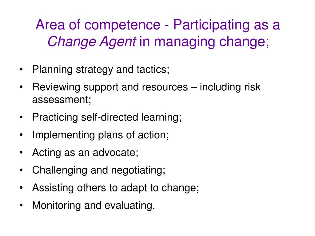 Area of competence -