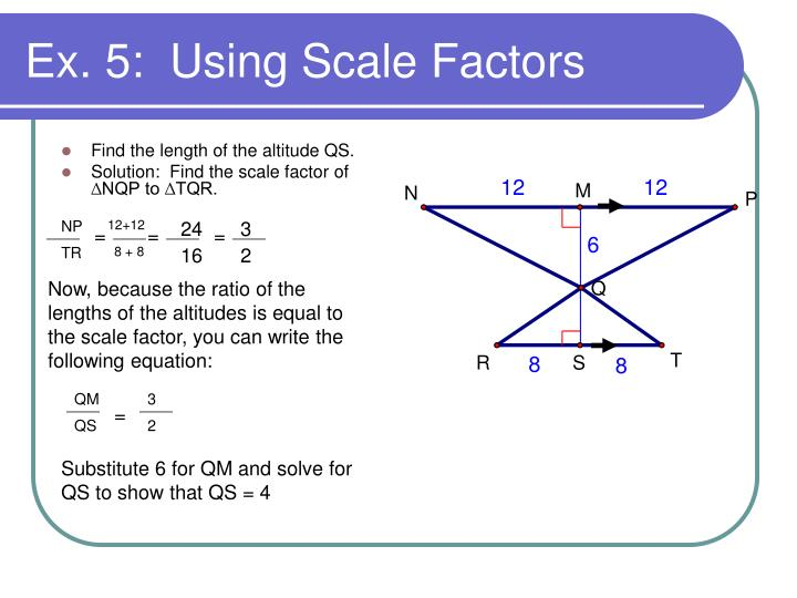 Find the length of the altitude QS.