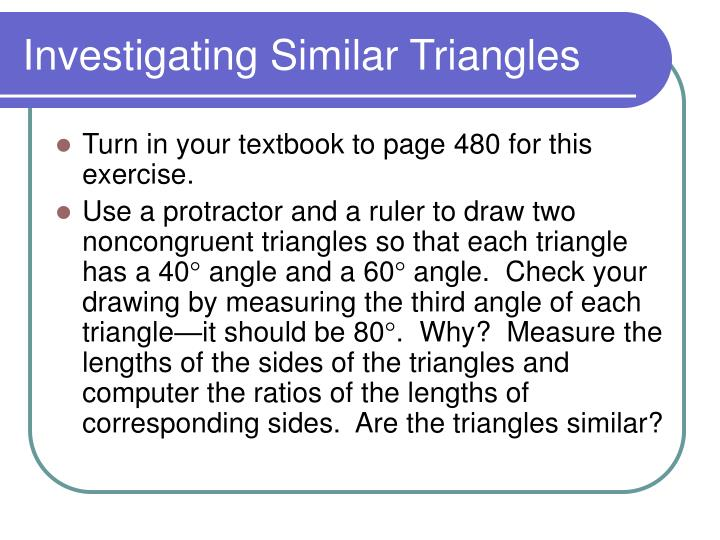 Investigating Similar Triangles