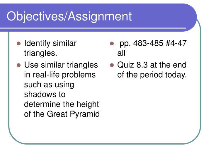 Identify similar triangles.