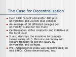 the case for decentralization