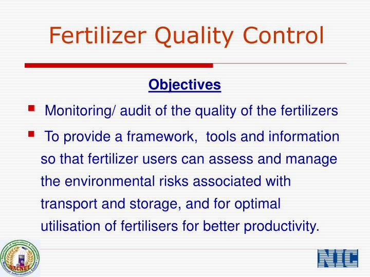 Fertilizer quality control