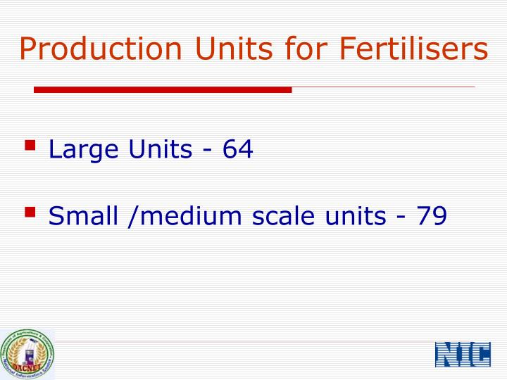 Production Units for Fertilisers