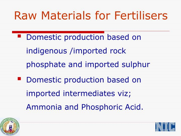 Raw Materials for Fertilisers
