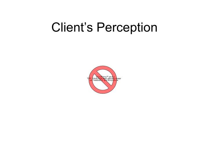 Client's Perception