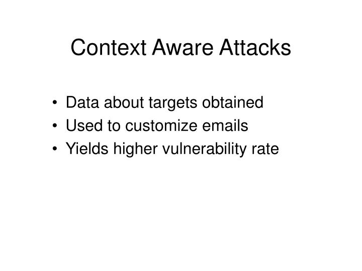 Context Aware Attacks