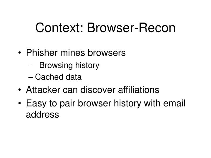 Context: Browser-Recon