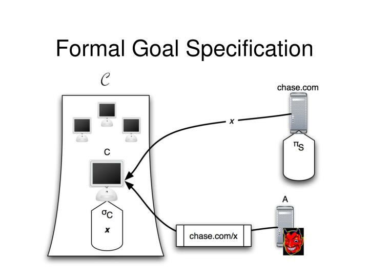 Formal Goal Specification