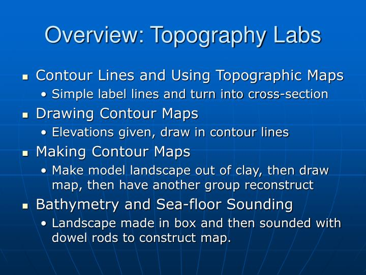Overview: Topography Labs