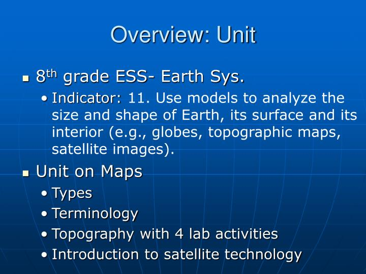 Overview: Unit
