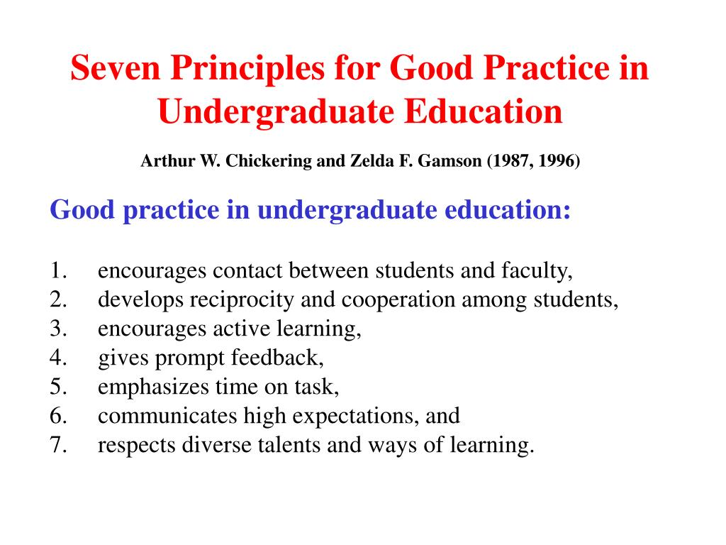 Seven Principles for Good Practice in