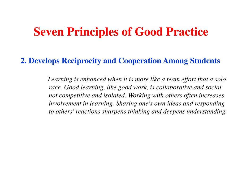 Seven Principles of Good Practice