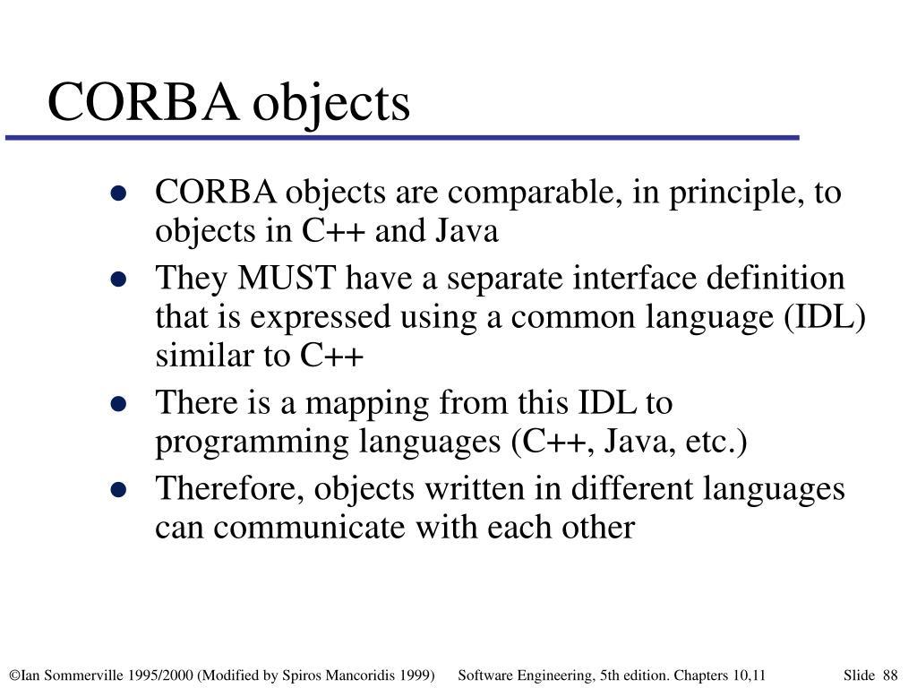 CORBA objects