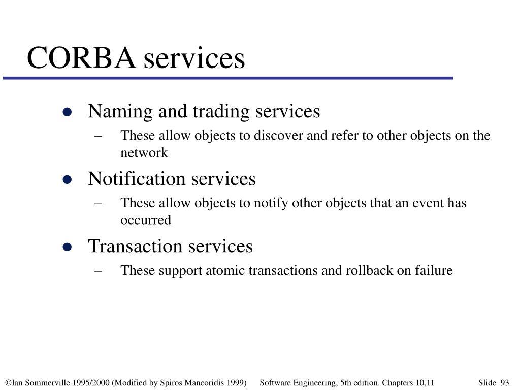 CORBA services