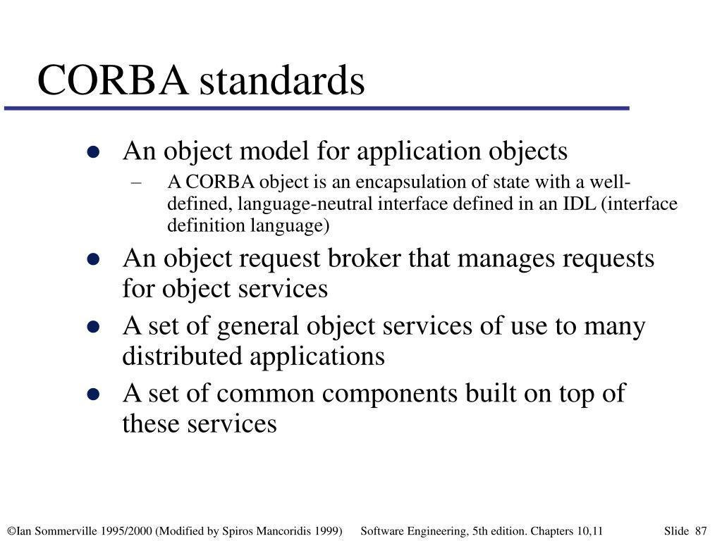 CORBA standards