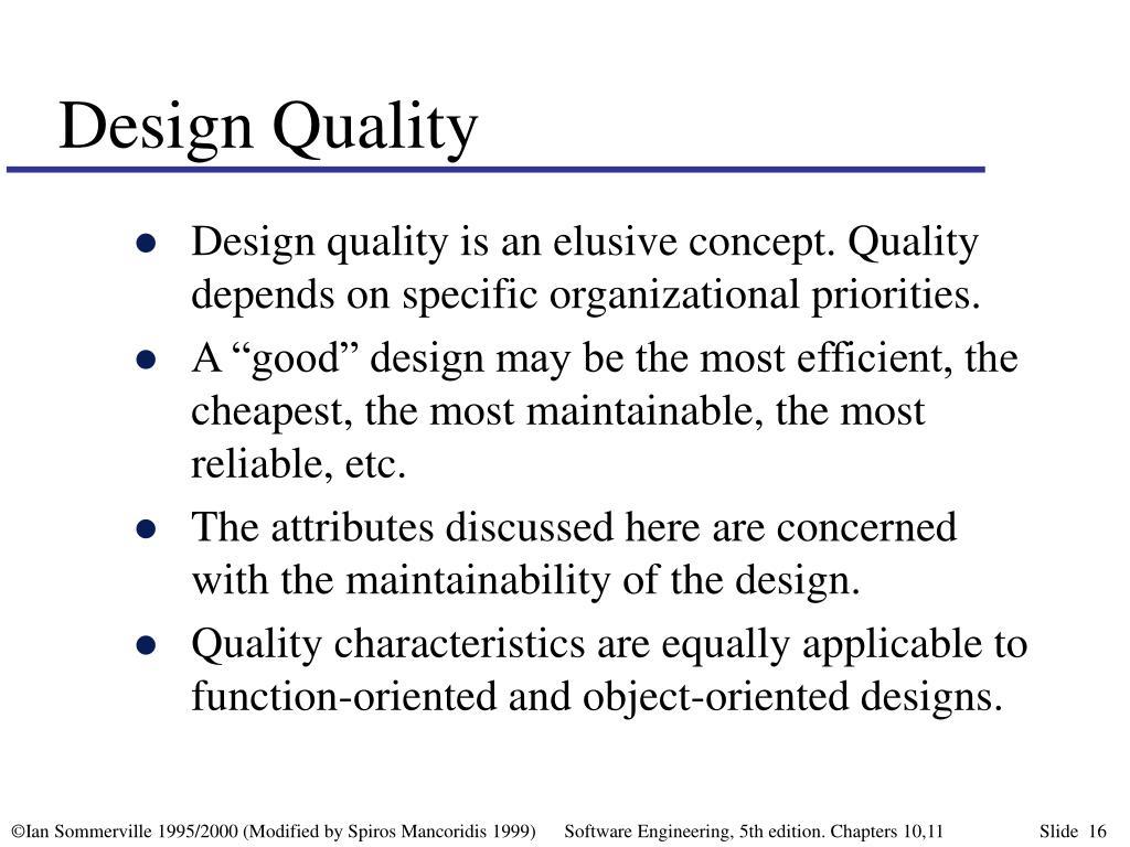 Design Quality