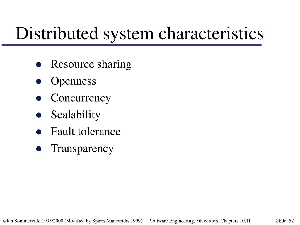 Distributed system characteristics