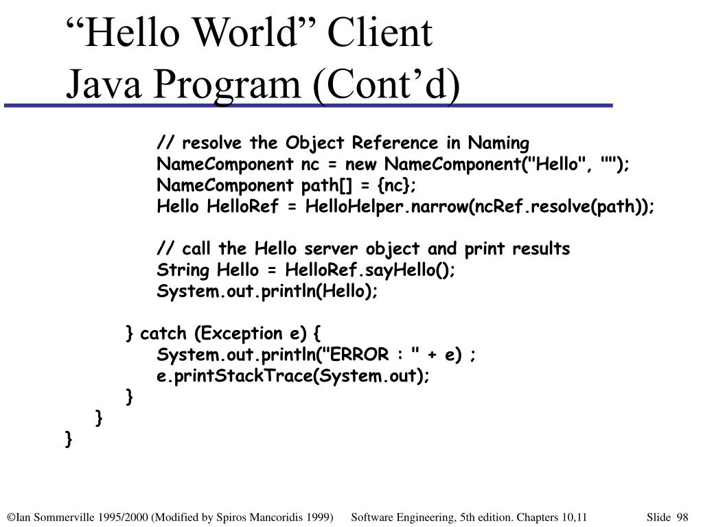 """Hello World"" Client"