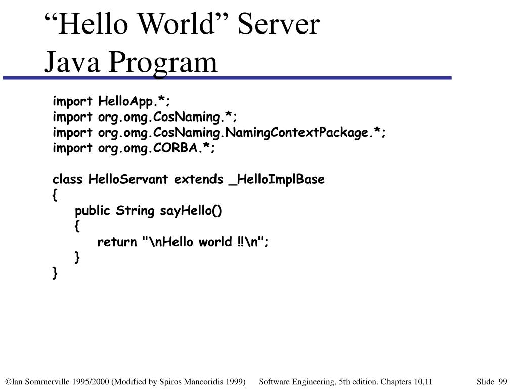 """Hello World"" Server"